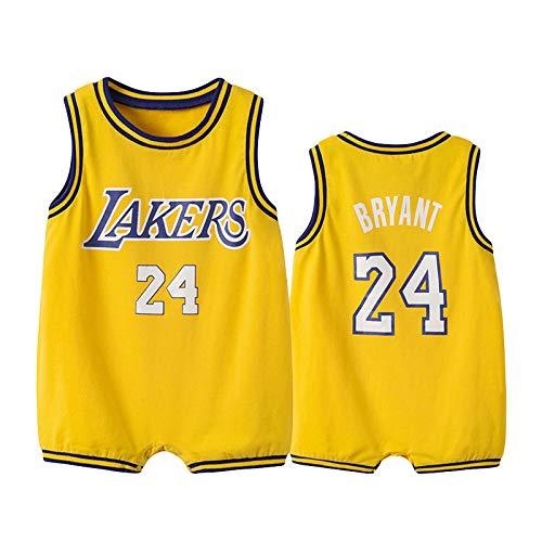 ZGRNB Basketball Trikot Sport Fan Baby Creepers Strampler Sommer Kobe Bean Bryant 24 Stephen Curry 30 James Harden 13 Chicago Bulls 23 Kobe Bean Bryant 24 Allen Ezail Iverson 3
