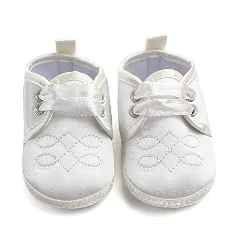 WEIHUIMEI 1 STÜCK Anti-Skid Erste Wanderer Babyschuhe Kinder Satin Aufkleber Freizeitschuhe Baby Prewalking Atmungsaktive Schuh für Kind Baby Kinder Size 10.5cm (Beige)