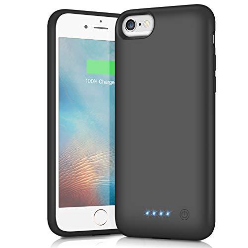 iPhone6/6s/7/8/SE2 対応 バッテリーケース 充電ケース 大容量 バッテリー内蔵ケース iphone8 対応 ケース バッテリー内蔵 急速充電 4.7インチ用 (ブラック)