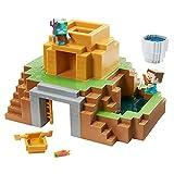 Minecraft Mini set minería Set de juego 2 en 1 para mini figuras, incluye 2 personajes y slime, juguete para niños +6 años Mattel GYR75