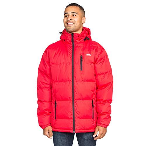 Trespass Clip, Red, XXS, Warme Gepolsterte Wasserdichte Jacke mit abnehmbarer Kapuze für Herren, XX-Small / 2XS / 2X-Small, Rot