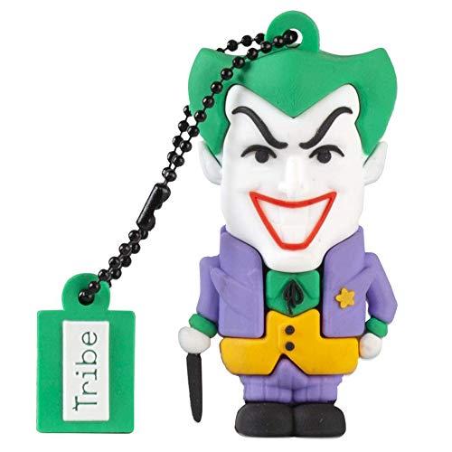 Tribe Warner Bros DC Comics Joker USB Stick 16GB Speicherstick 2.0 High Speed Pendrive Memory Stick Flash Drive, Lustige Geschenke 3D Figur, USB Gadget aus Hart-PVC mit Schlüsselanhänger – Mehrfarbig