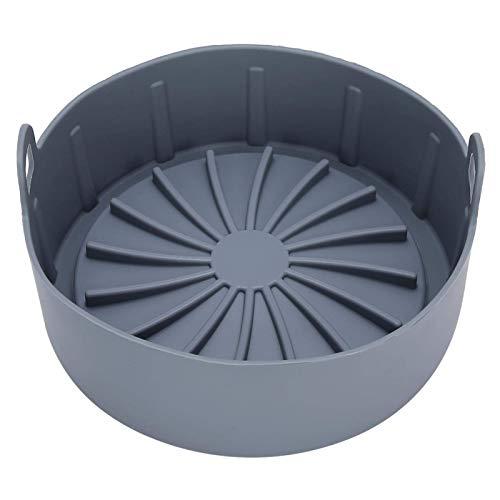 Cocina de presión multifuncional Silicona Portátil Cesta de vapor de silicona Freidora Aire de Aire Color al vapor Rack de vapor para cocina Siles (Marrón) WTZ012 (Color : Gray)