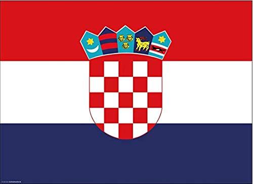 Tischsets | Platzsets - Kroatien Flagge - 10 Stück - hochwertige Tischdekoration 44 x 32 cm für kroatische Feiern, Mottopartys & Fanabende