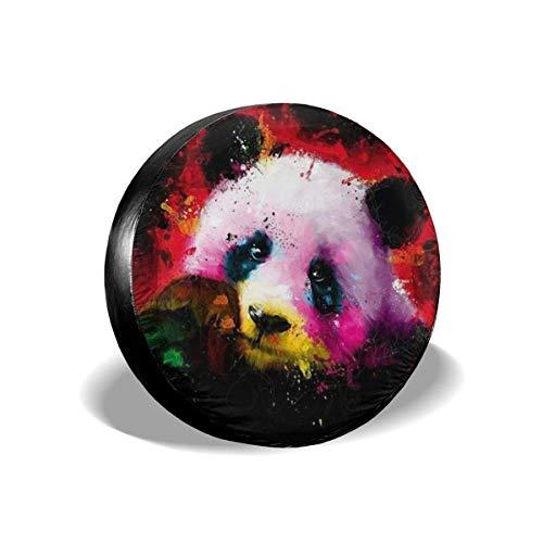 GOSMAO Cubierta de neumático Ajustable con Protector Solar Impermeable de Oso Pandas Blanco y Negro, Adecuada para automóvil, Todoterreno, RV, Remolque, Cubierta de Rueda de neumático de 16 Pulgadas