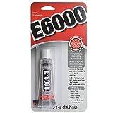 E-6000 Industrial Strength Glue Adhesive Tube, 1/2-Ounce