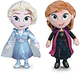 Disney - Pack 2 Peluches 11'81'30cm Princesas Frozen - Elsa + Anna Calidad Super Soft