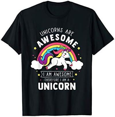 Unicorns Are Awesome I m A Unicorn Funny Rainbow Gift T Shirt product image