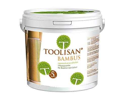 Bambusdünger TOOLISAN mit Langzeitwirkung - 5 kg Eimer* (5,78 €/kg)
