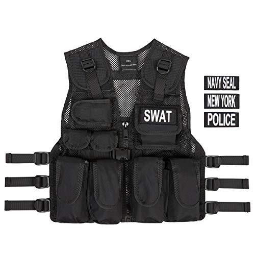 Kostüm Polizei SWAT Police Navy Seals Abzeichen Officer Agent Militär Armee Weste für Kinder Jungen Frauen Verkleidung Taktische Weste Qualitätsprodukt
