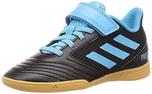 adidas Unisex-Kinder Predator 19.4 In Sala H&l J Fußballschuhe, Mehrfarbig (Core Black/Bright Cyan/Solar Yellow 000), 32 EU