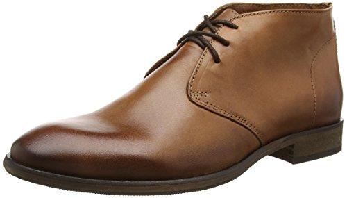 Selected Shdbolton Leather Boot, Chaussures Bateau Homme, Marron Cognac, 44 EU