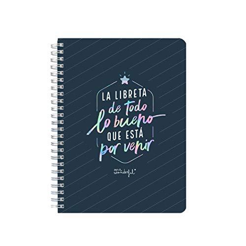 Mr. Wonderful Libreta pequeña A5 - la libreta de todo lo bueno que está por venir