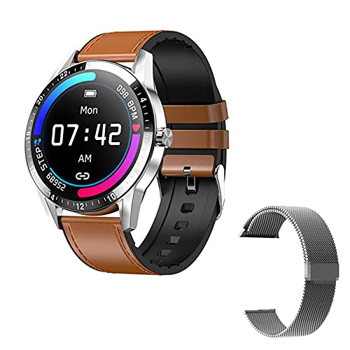 ZYDZ G20 Smart Watch 1.3 Círculo Completo HD Big Screen Bluetooth Llamada De Bluetooth para iOS Android Smartwatch Hombre Y Reloj De Mujeres Deportes Aptitud Pulsera,D