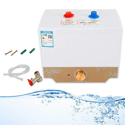 Calentador de agua caliente de 1500 W, 8 L, rango de temperatura: 30-75 °C