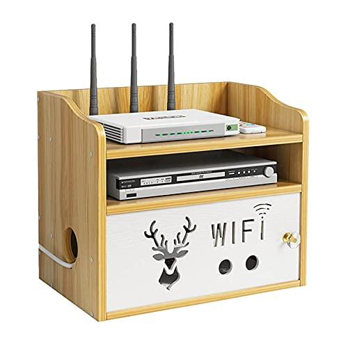 LJXX Router Caja de Almacenamiento, Home Caja Router WiFi, Cajas de Almacenamiento Tablero de Enchufe para Colgar en la Pared, para Cajas de Cable, Controles Remotos