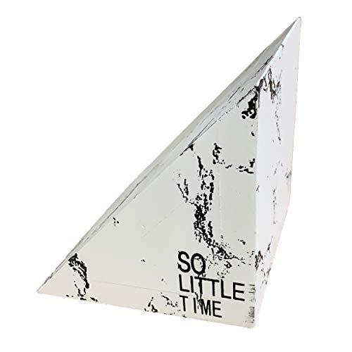 1 Stück Moderne Stein Buchstützen Buchhalter Bühcer Halterung Halter für Schreibtisch - Weißes Dreieck