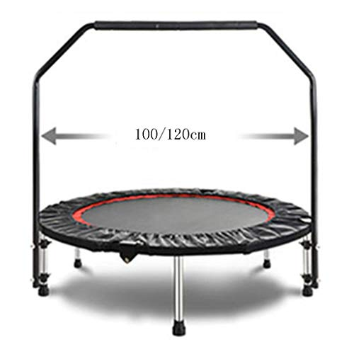 Trampolines YNN Bouncing Indoor Outdoor Strength Training Foldable Round Rebounder Spring Hanged Easy To Assemble 40 Inch 48 Inch (Size : 100cm)