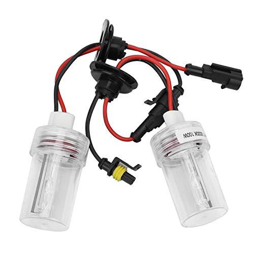 2 piezas de bombillas de faros delanteros automáticos, bombillas de faros antiniebla HID de xenón, tubo de cuarzo H11, 100 W, 8000 K, bombillas de faros delanteros para vehículos de 12 V, kit de repue