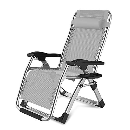 Byfjkkl Folding Lounger Chair Portable Breathable sun lounger Adjustable Backrest Beach Garden Sunloungers Outdoor Patio Recliner,Gray