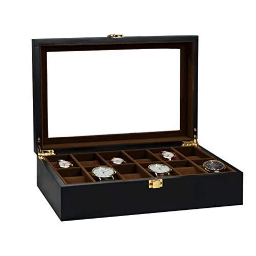 BWCGA -Business Regalo, joyería Caja de Almacenamiento de Caja Reloj Reloj de los Boxmen Reloj Caja de Madera for los Hombres (Size : L31.5*W21*H9cm)