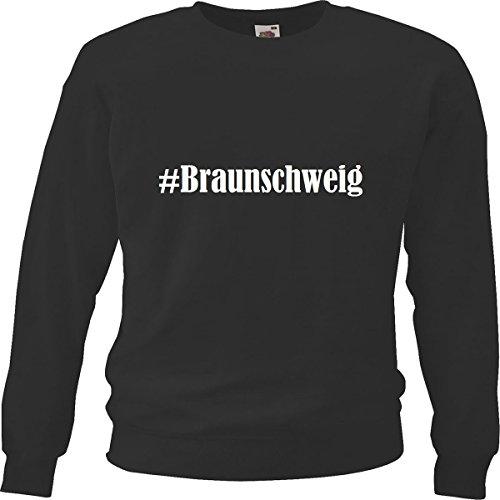 Reifen-Markt Sweatshirt Damen #Braunschweig Größe L Farbe Schwarz Druck Weiss