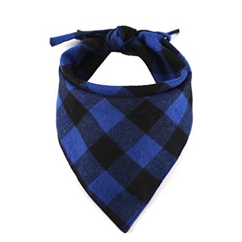 Notdark Hunde Bandana Kopftücher Hundehalstuch Dreieckstuch für Kleine, Mittelgroße und Große Hunde (Einheitsgröße,Blau)