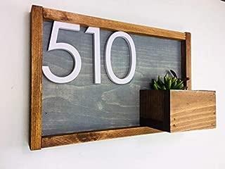 House Numbers, House Number Plaque, House Number Planter, Address Sign, House Number Sign, House Number, Address Plaques, Curb Appeal