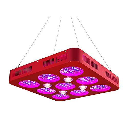 1100W COB LED-Zuchtlampen, Pflanzenzuchtleuchten mit vollem Spektrum für Zimmerpflanzen, Gemüse- und Blumengewächshauszelte