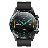 AERFA Smart Watch,Health and Fitness Smartwatch with Temperature Heart Rate Blood Pressure SpO2 Monitor Sleep Tracker,IP68 Waterproof Smart Watch for Android iOS Phone for Men (Silver)
