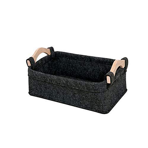 BONMW Filz Aufbewahrungsbox Faltbare Toy Organizer Korb Mit Griffen Zu Hause Schlafzimmer Aufbewahrungsbox Für Kleidung Waschen Wäschekosmetik (S)