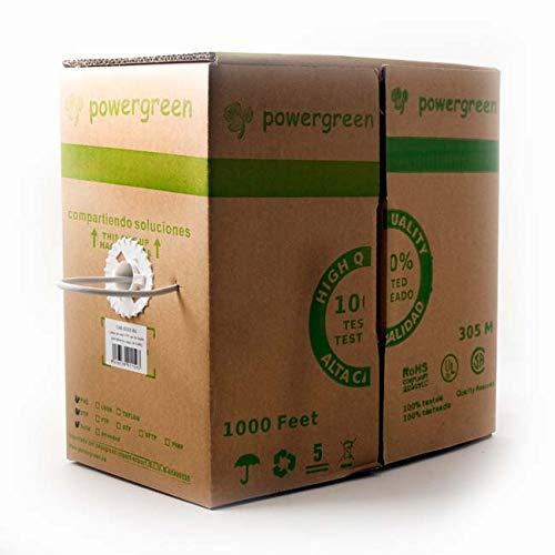 powergreen – Bobine de kabel Cat 5e F/UTP (UTP 305 m rookarme behuizing kleur grijs 24 AWG