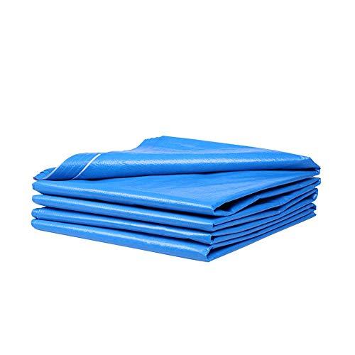 WYYAF waterdichte poncho, balkon regenbestendig dubbelzijdig dekzeil, zonwering, transparant, winddicht doek voor buiten, vloerbedekking / blauw / 6 x 10 m