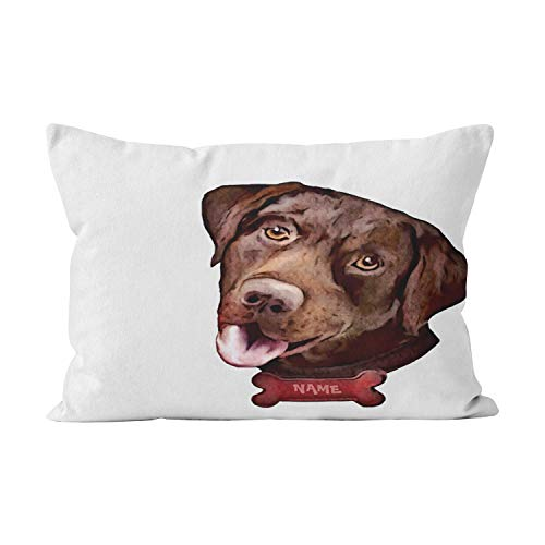 Funny Z Chocolate Labrador Retriever Dog Einzigartig Sofa Auto Bett Dekorative Kissenbezug Quadrat 22×22 Zoll