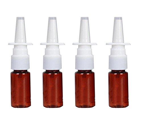 Elandy 6 STÜCKE Kunststoff Braun Nasenspray Flaschen-Nachfüllbare Feine Nebelsprüher Zerstäuber Kosmetik Make-Up Parfüm Vorratsbehälter (10ml/0.35oz)