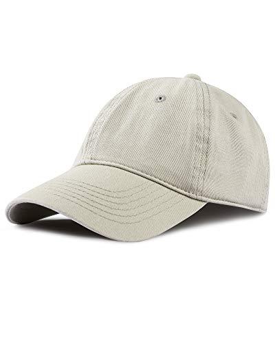 FURTALK Baseball Cap Unisex Vintage Kappe Herren Damen Basecap im Washed Verstellbare Sonnenhut Baumwolle Baseball Mütze, Beige, M