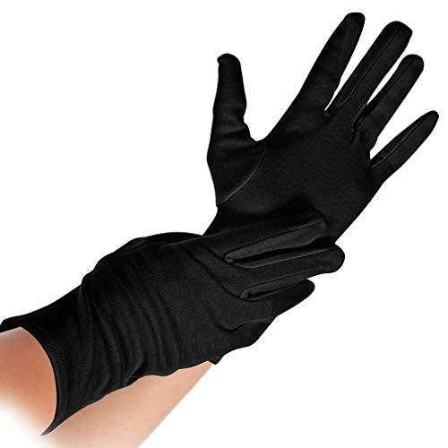 #12xHYGOSTAR Baumwoll-Handschuh NERO, schwarz, S