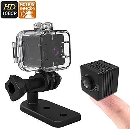 Mini Câmera Espiã Multifuncional Ação e Aventura Full HD 1080p Visão Noturna Detecção de Movimento Micro SD Até 32GB Estojo À Prova D'água (Preto)