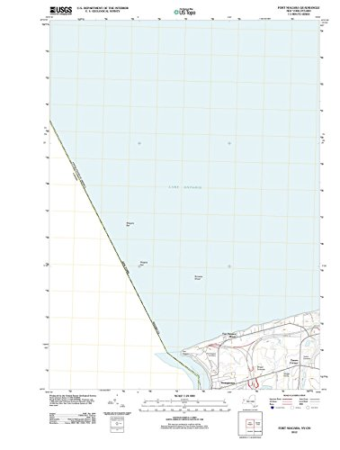 New York Maps - 2012 Fort Niagara, NY - USGS Historical Topographic Wall Art - 33in x 44in