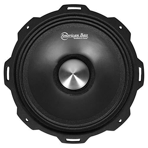 American Bass Godfather 8 Inch 4 Ohm Impedance 800 Watt Max Power Midrange Performance Output Loud Speaker with 97 Decibel Sensitivity