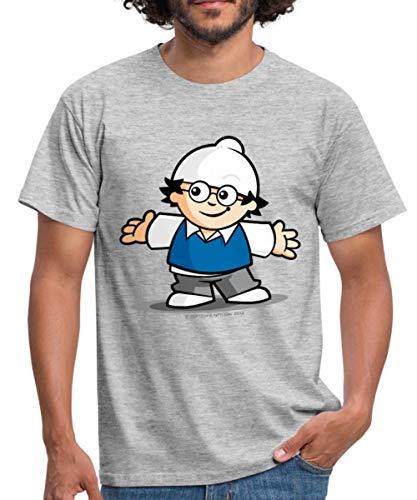 Mainzelmännchen Det Männer T-Shirt, XL, Grau meliert
