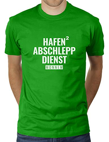 Hafen Abschlepp Dienst Monnem Mannheim - Herren T-Shirt von KaterLikoli, Gr. L, Apple Green