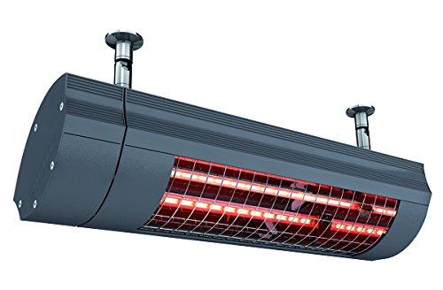 ETHERMA SOLAMAGIC® infraroodstraler, professioneel outdoor apparaat met 2000 W, beschermingsklasse IP65, afmetingen (l x b x h): 516 x 176 x 230 mm, kleur: nano-antraciet, SM-2000IP65-NA