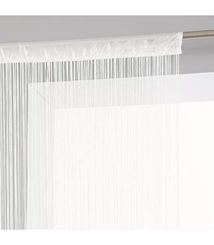 Rideau fil couleur Ivoire 90x200cm