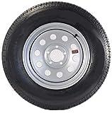 Trailer Tire On Rim ST225/75D15 15 in. Load D 5 Lug Silver Modular Wheel