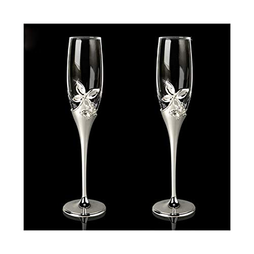Bicchieri di vino Top Valutatore in stile europeo in metallo in metallo placcato in metallo in metallo,flauto metallo pane tostato per matrimoni o uso del partito,bicchiere di vino,flute di champagne