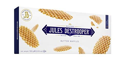 Jules Destrooper - Galletas gofres De París, 100 g - Pack de 5 Unidades