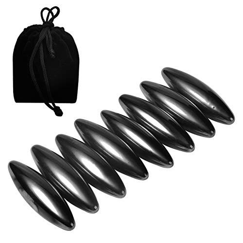 NicoSeeWonder 8 Pieces Snake Eggs Magnets Hematite Rattle Snake Ellipsoid Magnetic Rattlesnake Egg (Small)