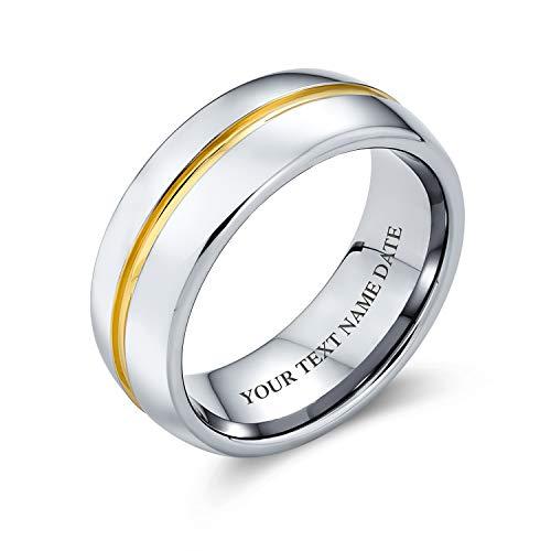 Bling Jewelry Personalizado Golden Centro Raya Parejas de Ti