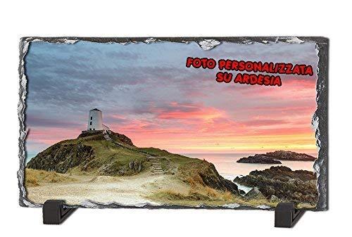- Senza marca/Generico - Foto su Pietra Ardesia Stampa Personalizzata Rock Photos Forma Rettangolare Idea Regalo 150 mm x 200 mm
